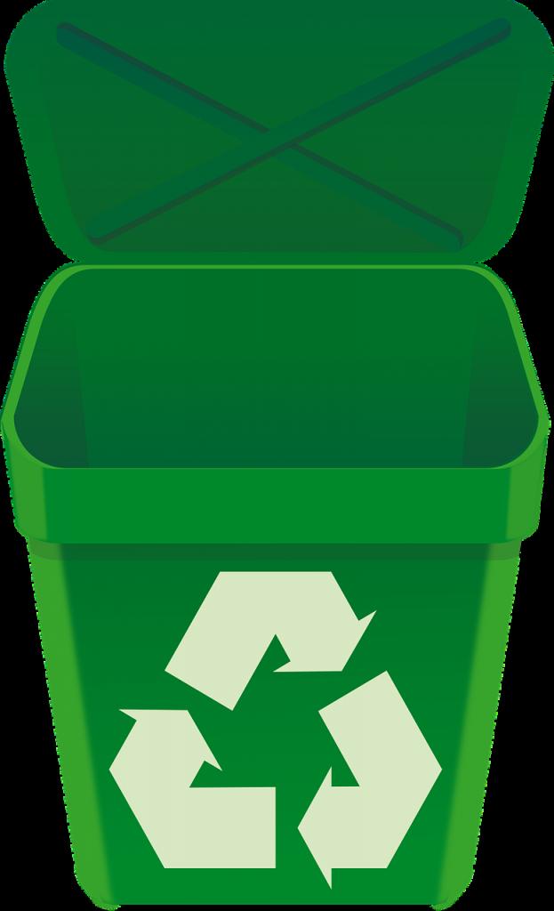 recycle, bin, green